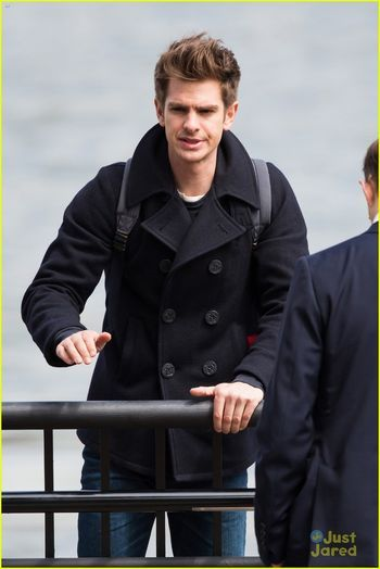 Peter Parker Andrew Garfield In A Peacoat Andrew