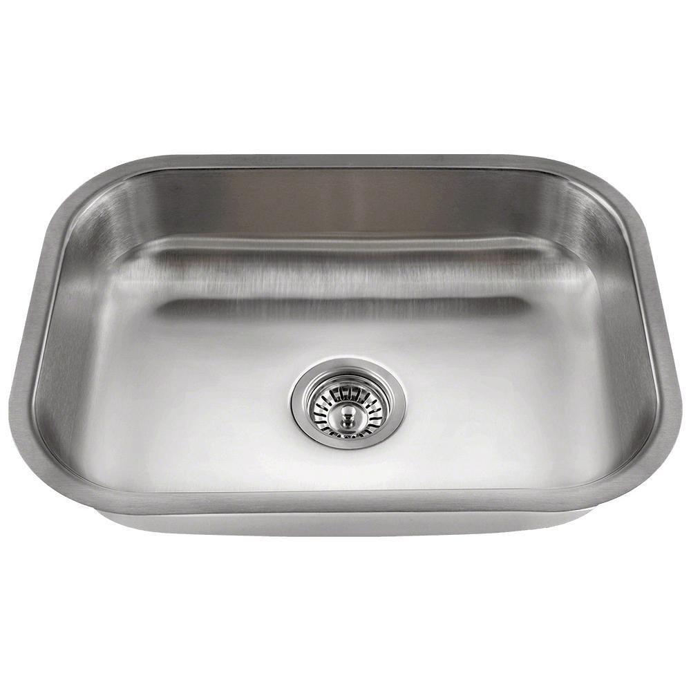 Undermount Stainless Steel Silver 17 75 In Single Bowl Kitchen Sink In Stainless Steel Single Bowl Kitchen Sink Stainless Steel Sinks Sink