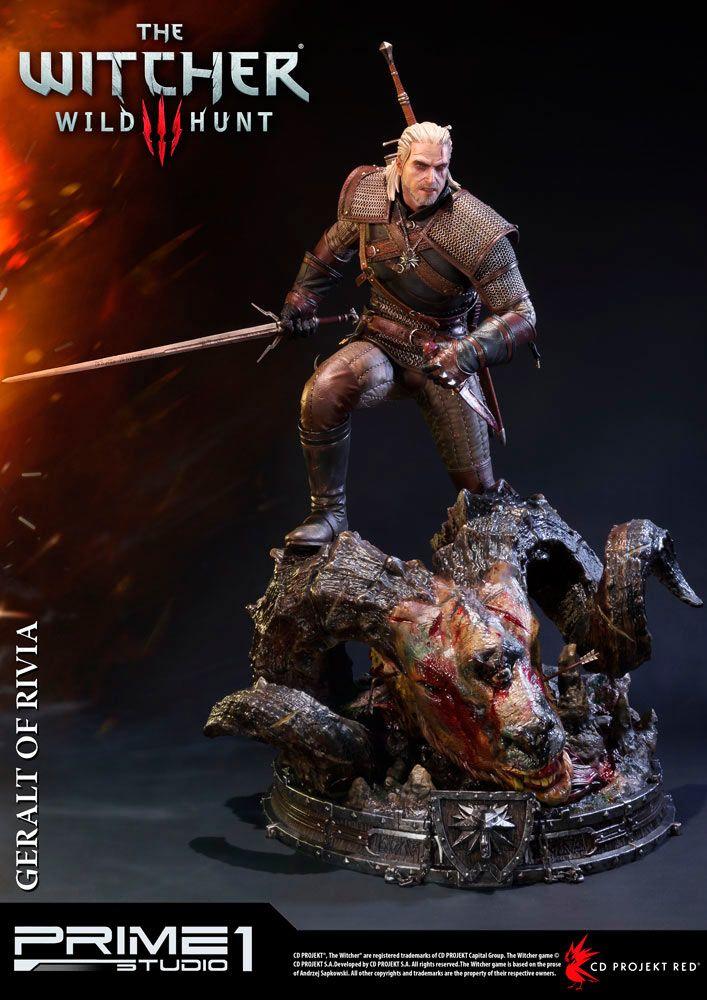the witcher 3 wild hunt prime 1 studio preciosa estatua del personaje de geralt of rivia de unos impresionantes 66 cm de altura fabricada en material
