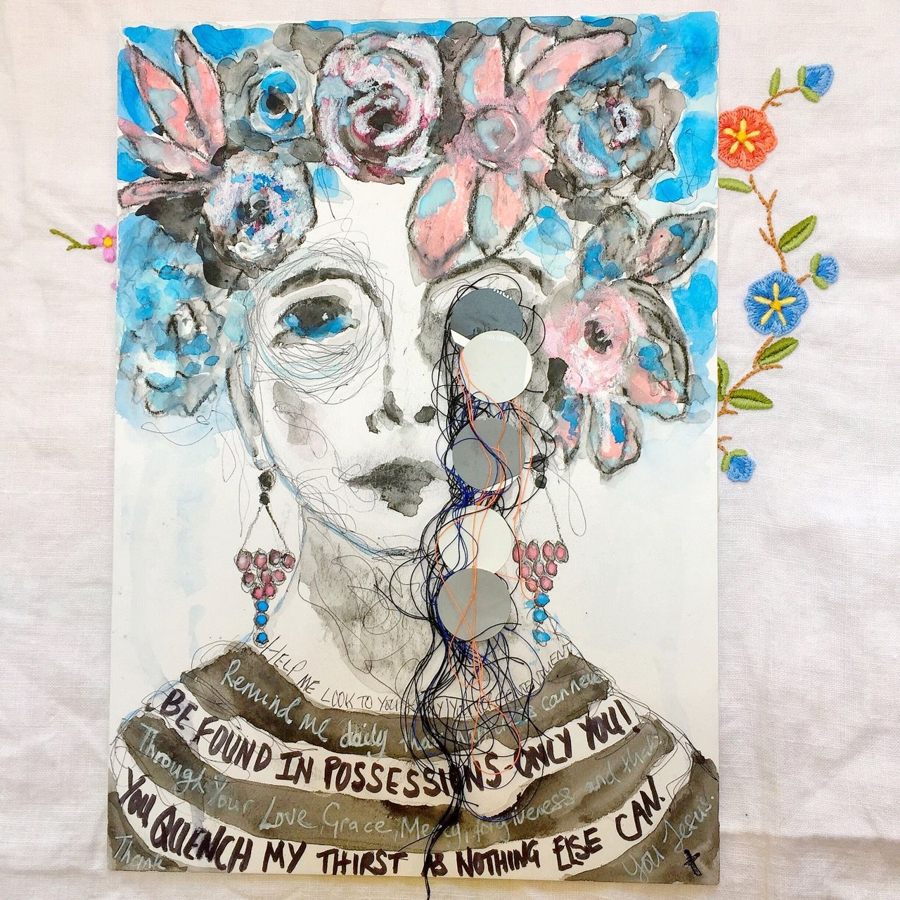I M Just Popping In To Share Next Month S Mixed Media Portrait For
