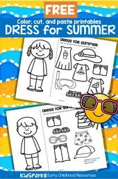 #Boy #Clothes #dress #FREE #Girl #Summer Summer Clothes Worksheet – SUMMER Cloth…