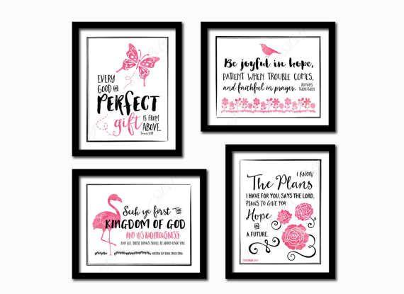 Set of 4 kids printables. Instant download prints. by PrintsofLife