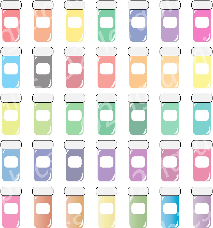 Pill Bottle Clipart Medicine Clip Art Vector Clipart Digital Scrapbooking Graphic Artwork Png Jpeg Digital Clipar Clip Art Graphic Artwork Etsy Artwork