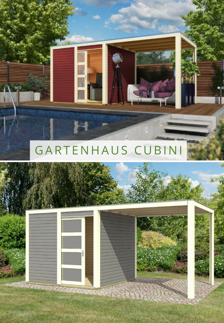 Karibu Gartenhaus Cubini mit Schleppdach bietet genug