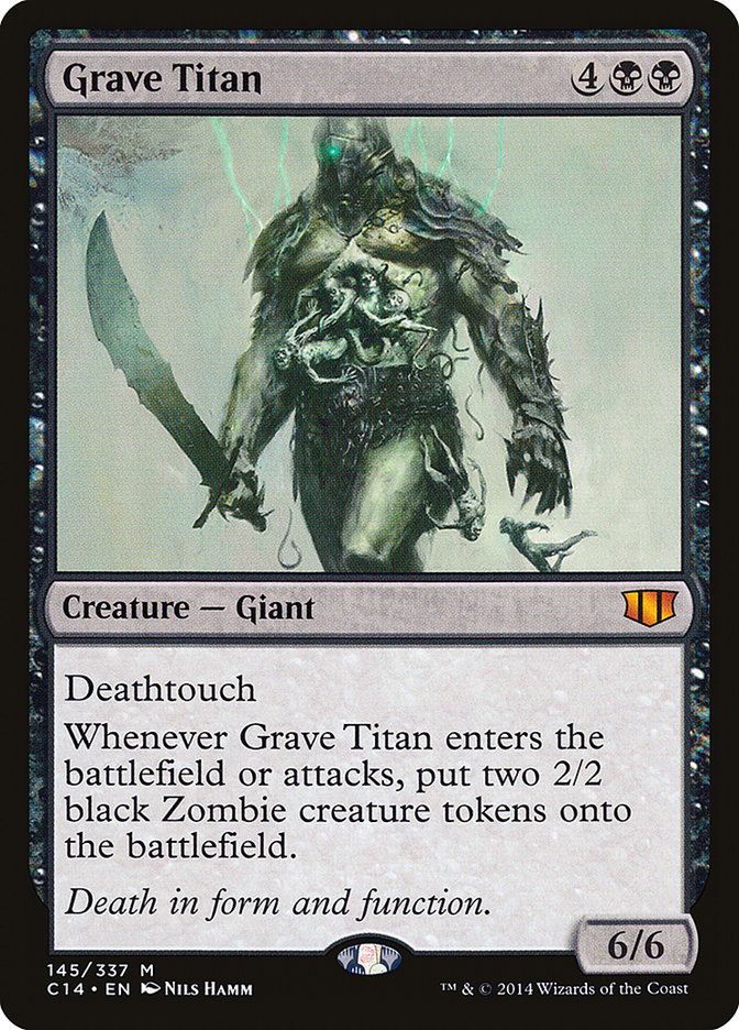 Grave Titan Magic The Gathering Magic The Gathering Cards The Gathering