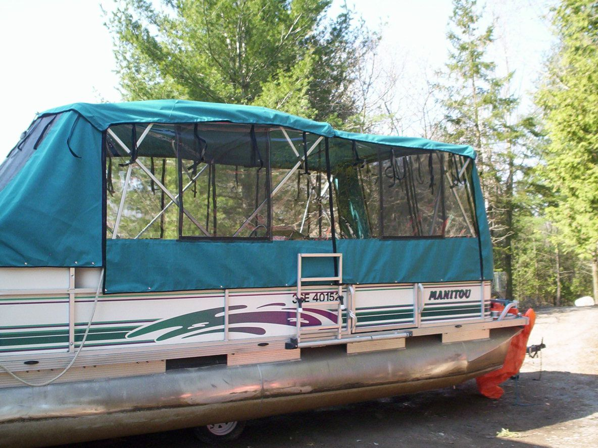 Tips On How To Turn Any Pontoon Boat Into The Ultimate Travel Camper Cruiserboataccessories Pontoon Boat Accessories Pontoon Boat Canopy