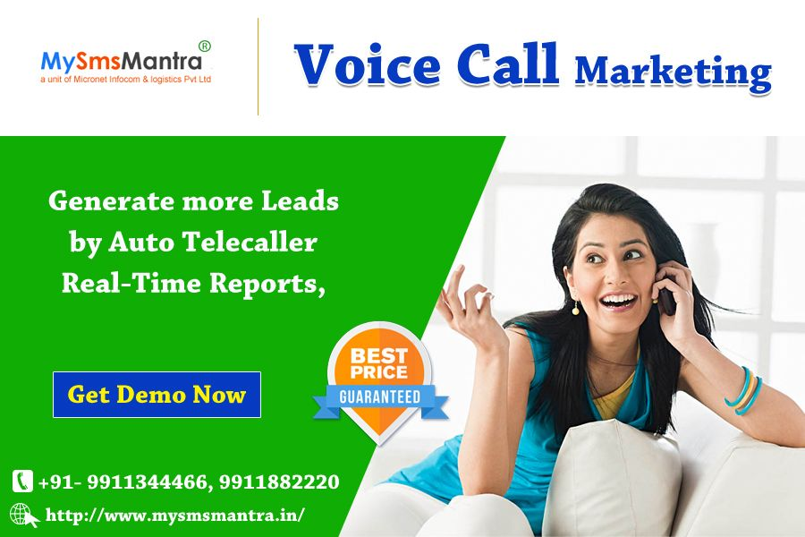Use our Bulk voice calls tool for promoting and marketing