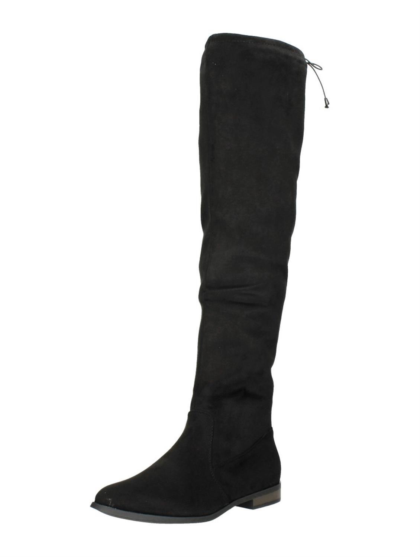 9016ace0f91 Visions zwarte overknee laarzen zonder hak   Shoes - Shoes, Boots en ...