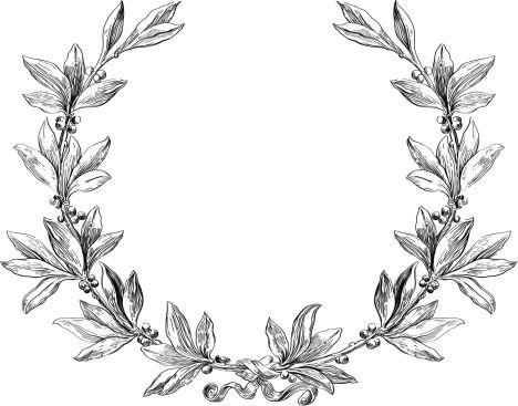 Laurel Wreath Vector Art 465239975