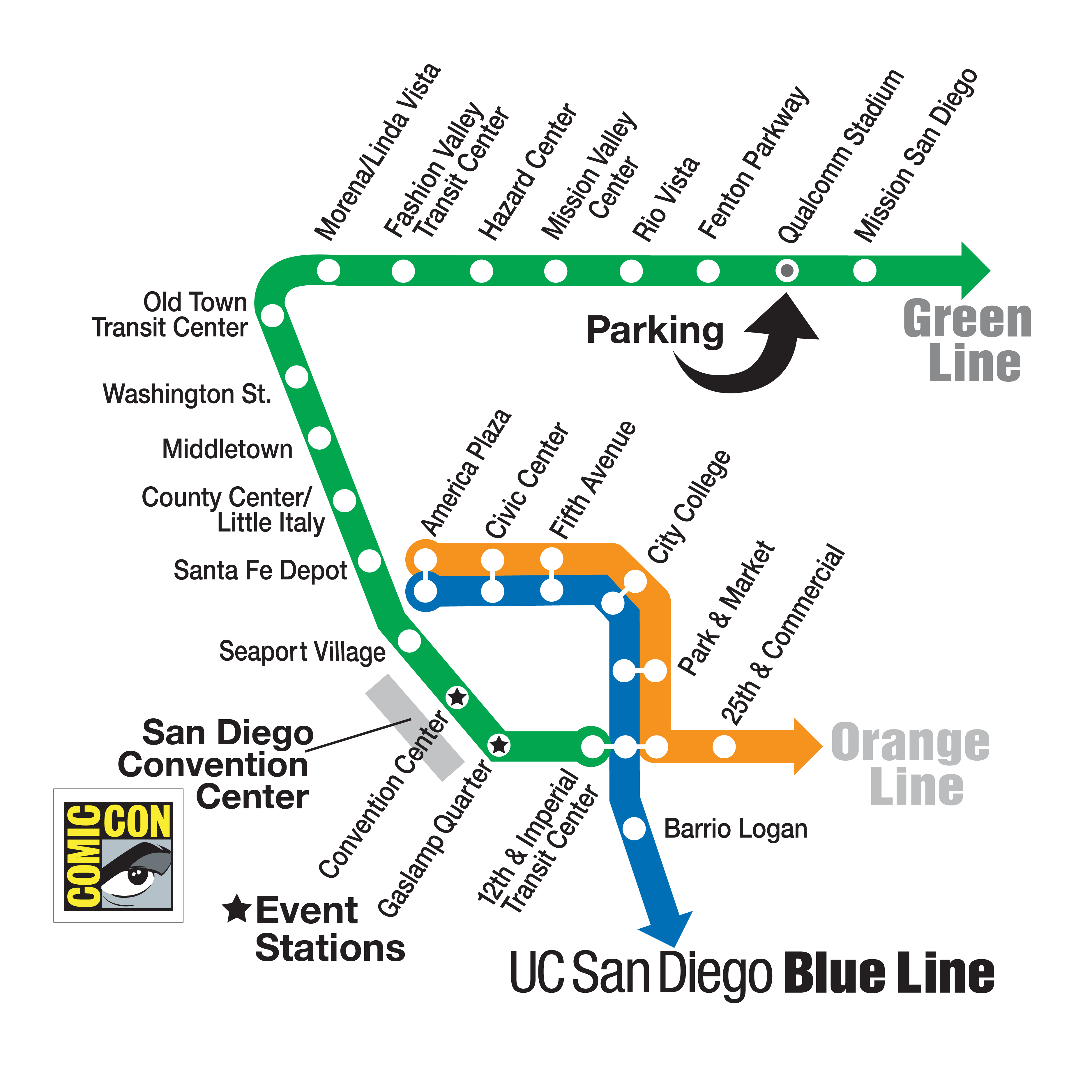 Comic Con Trolley Map Comic Con Pinterest Comics Comic con