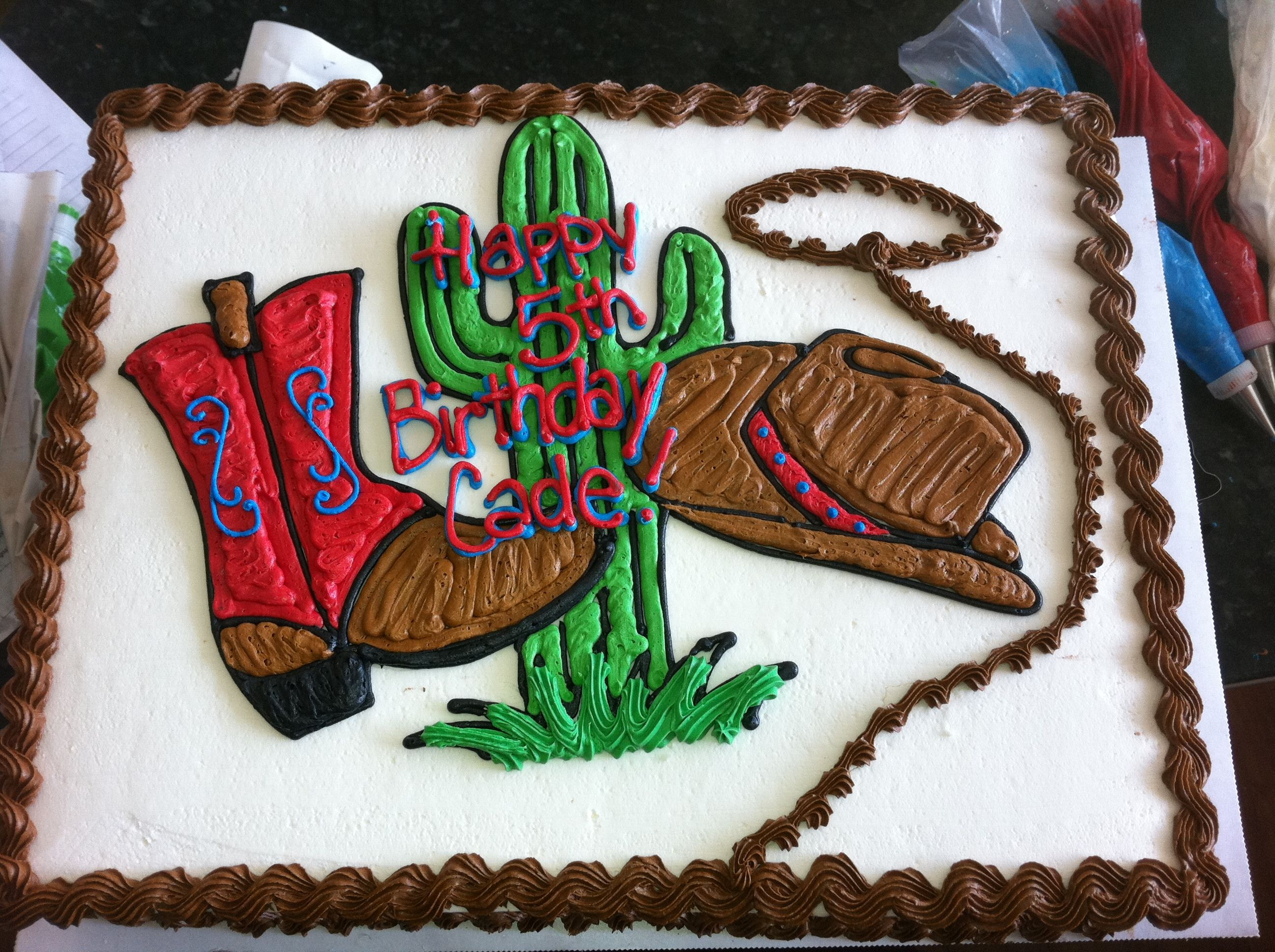 western buttercream sheet cakes Little Cowboy Sheet Cake cakes
