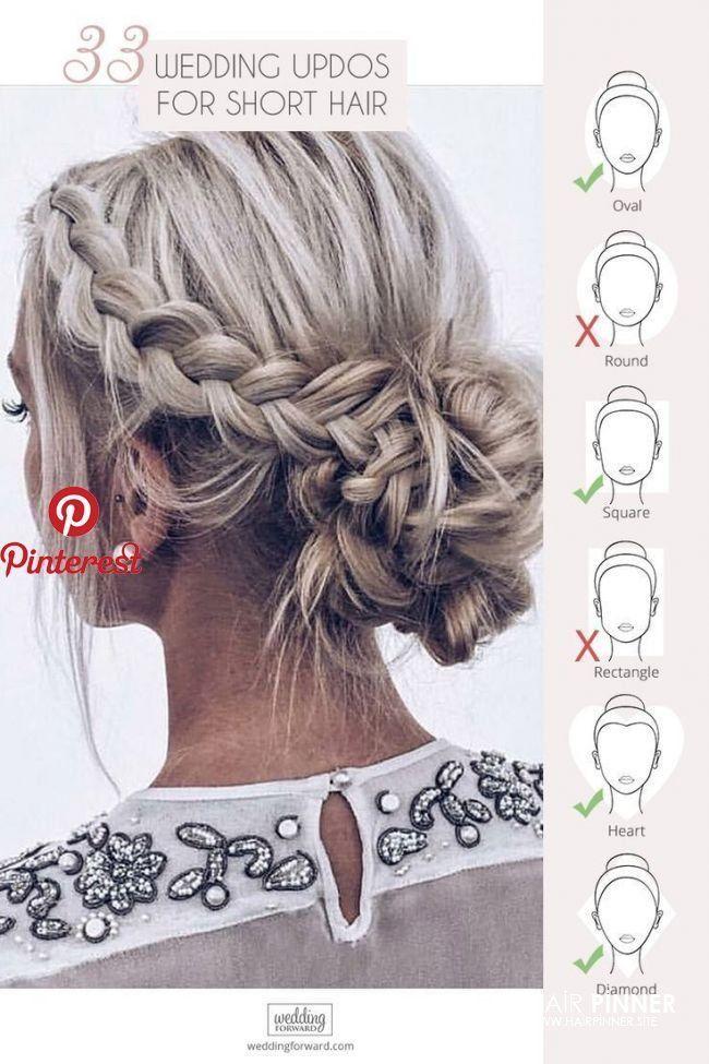 Frisuren Hochzeit Charminig Wedding Updos Hair Styles Short Hair Updo Thick Hair Styles