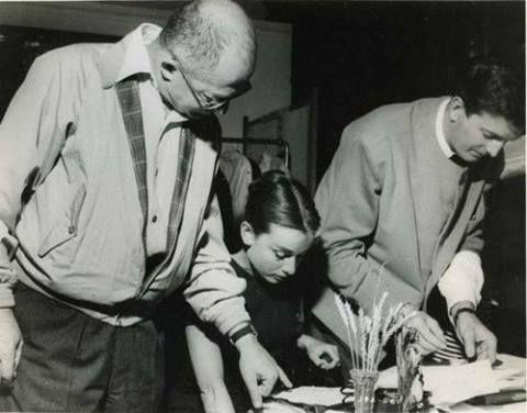 Audrey Hepburn, Hubert de Givenchy e Billy Wilder