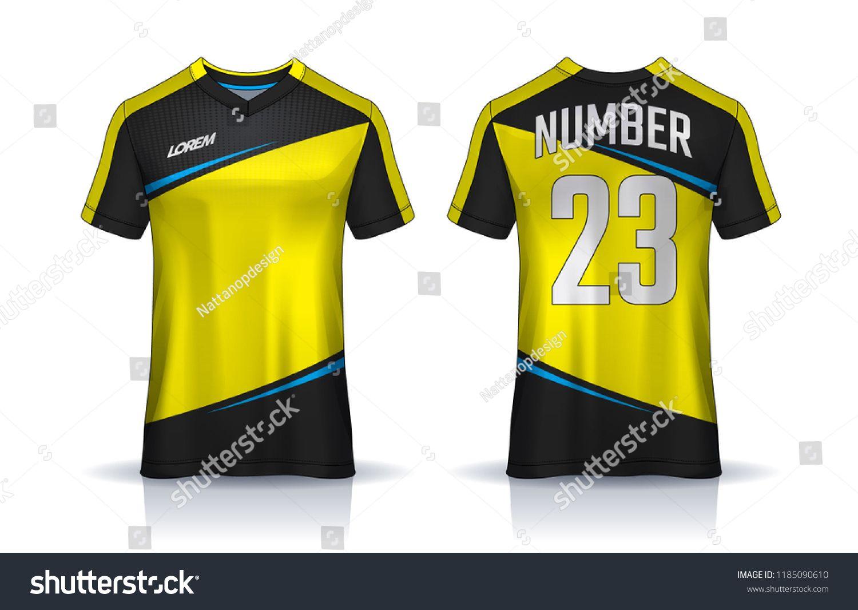 Download T Shirt Sport Design Template Soccer Jersey Mockup For Football Club Uniform Front And Back View Template Soccer Je Sports Design Soccer Jersey Jersey Shirt