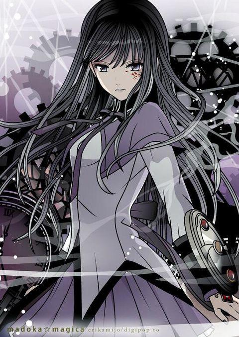 Homura Akemi Puella Magi Madoka Magica See More Anime At Www