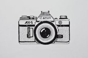 Camera drawing illustration canon analogue marleen annema for Camere dwg