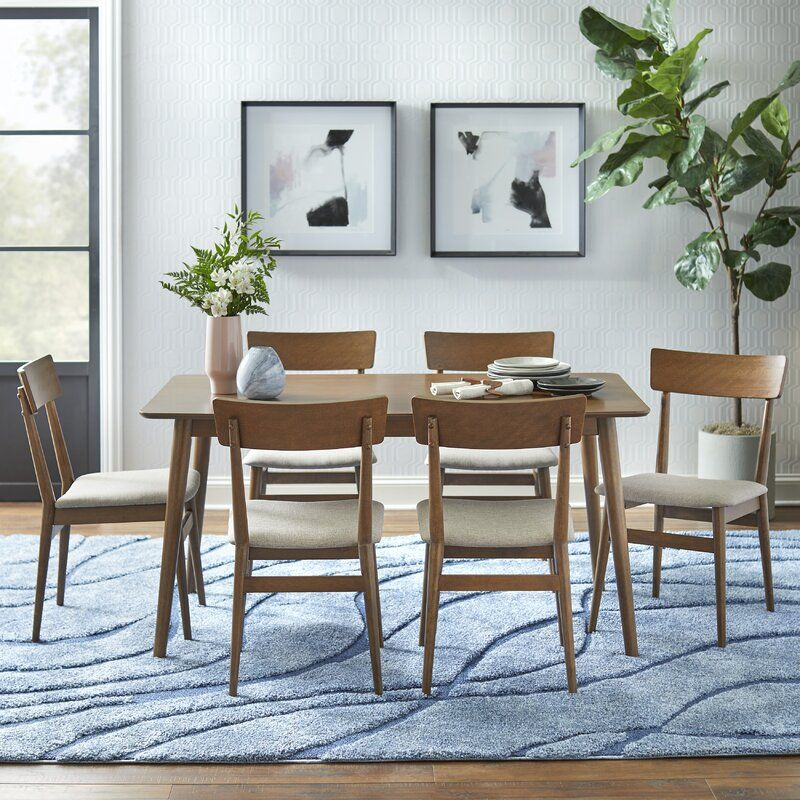 Middlebury Solid Wood Dining Set In 2020 Dining Room Contemporary Solid Wood Dining Set Dining Room Seating