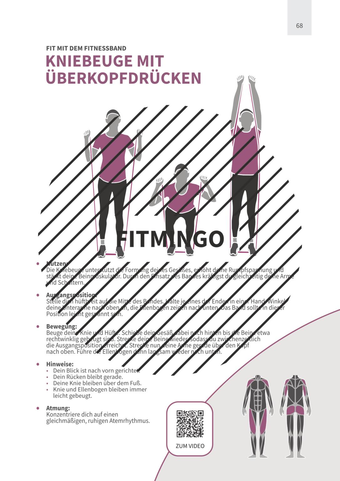 64 Effektive Ubungen Mit Fitnessband Fur Den Ganzen Korper In 2020 Band Workout Fitness Fitnessbander Ubungen