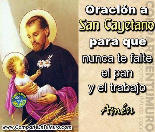 San Cayetano Padre De La Providencia Comparte A San