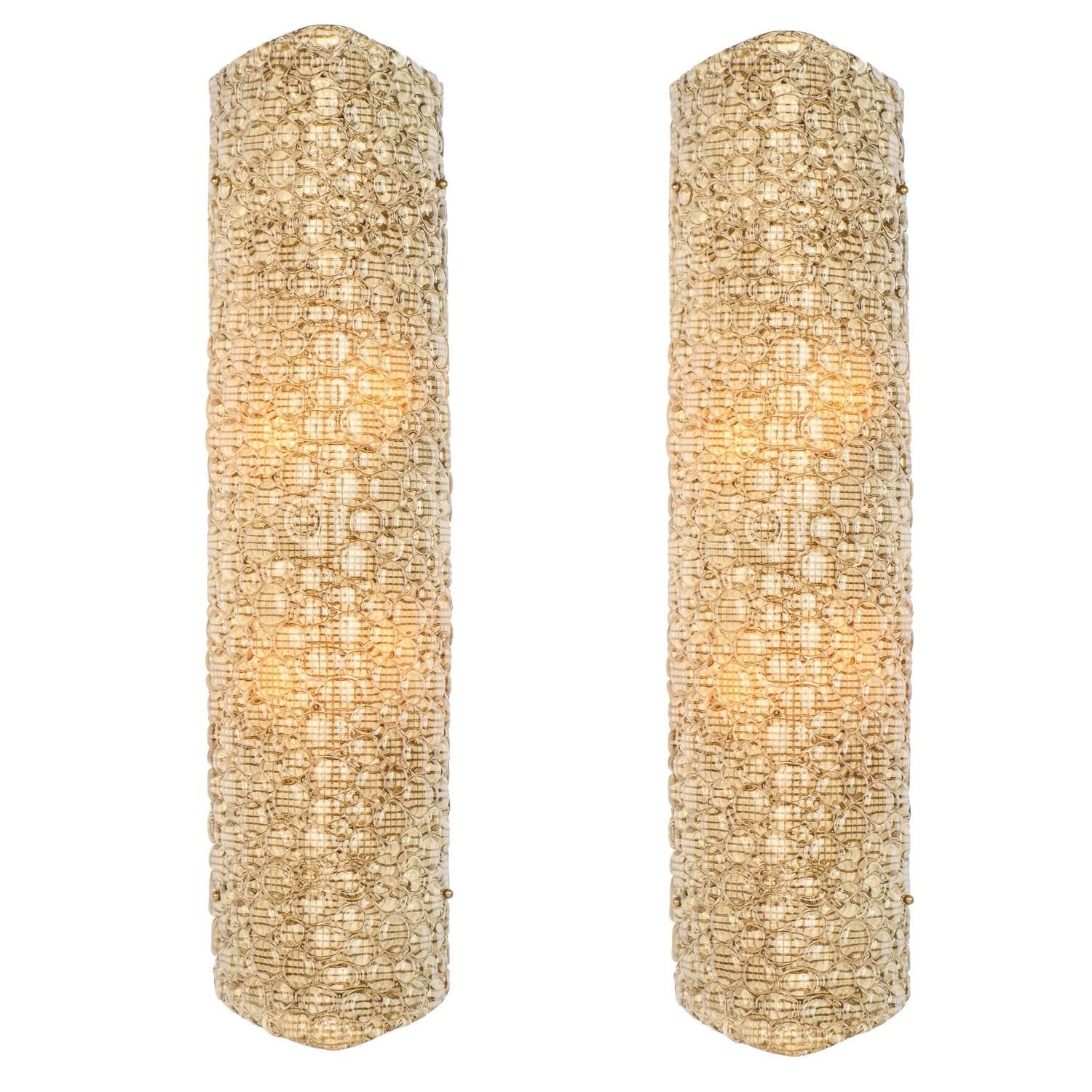 Pair of Large Murano Glass Wall Sconces | Tinagroo Sconces ...
