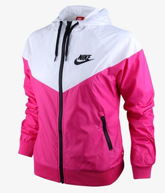 Nike Windrunner Femmes Veste Sweat À Capuche Coupe-vent Rose Chinchilla Blanc