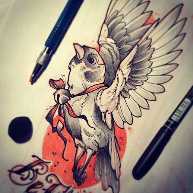 Tattoo Tattooart Tattooflash Sketch Bird Flight Animal Tattoo Adventure Tattoo Tattoos