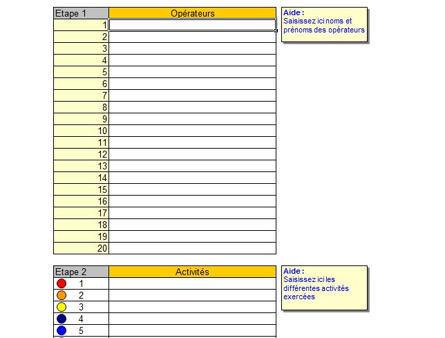 Planning Excel Pour Le Suivi D Activites Planning Excel Tableau De Planification Planning De Travail