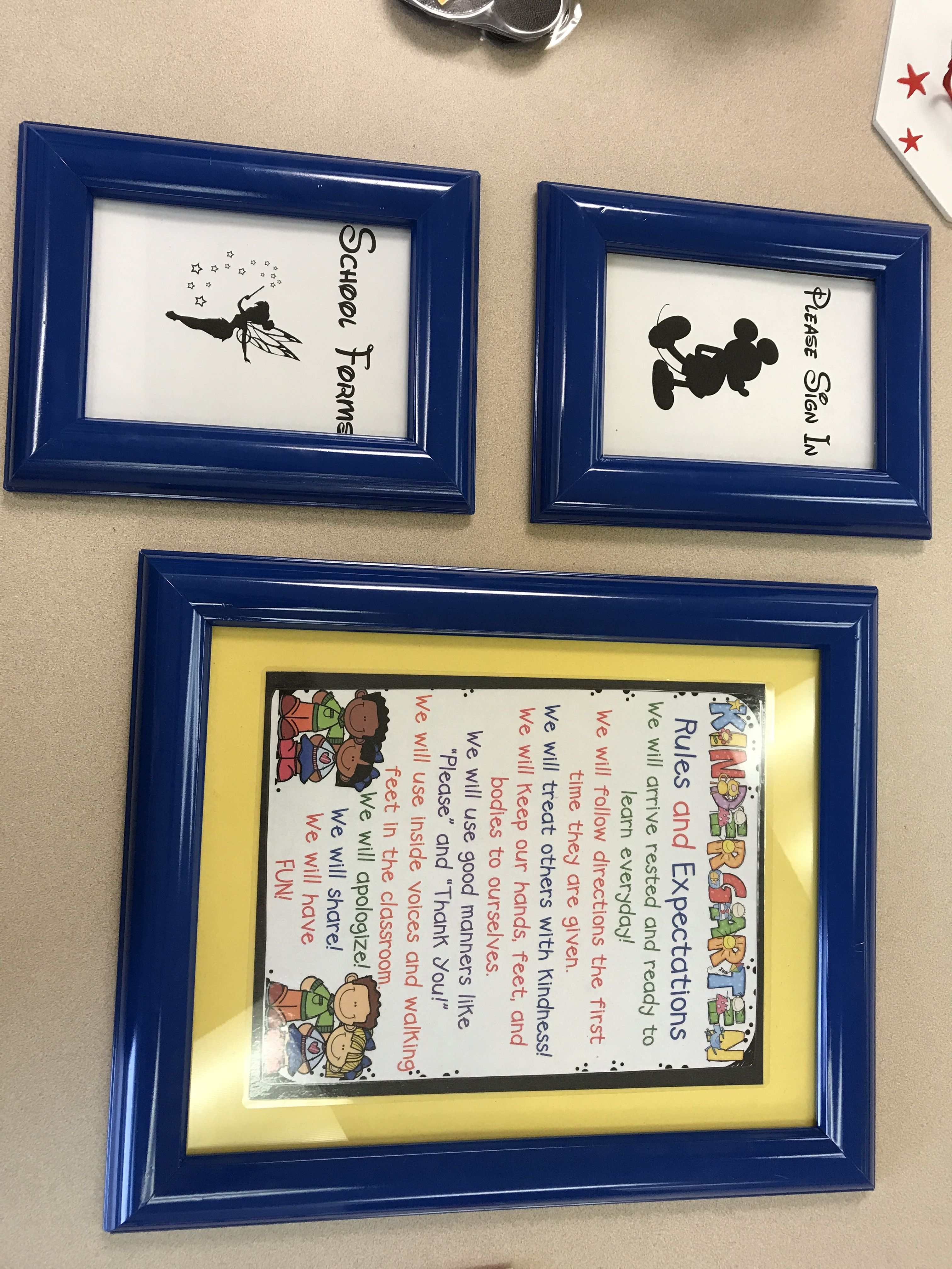 Open house signs and kindergarten rules/expectations-- just put into ...