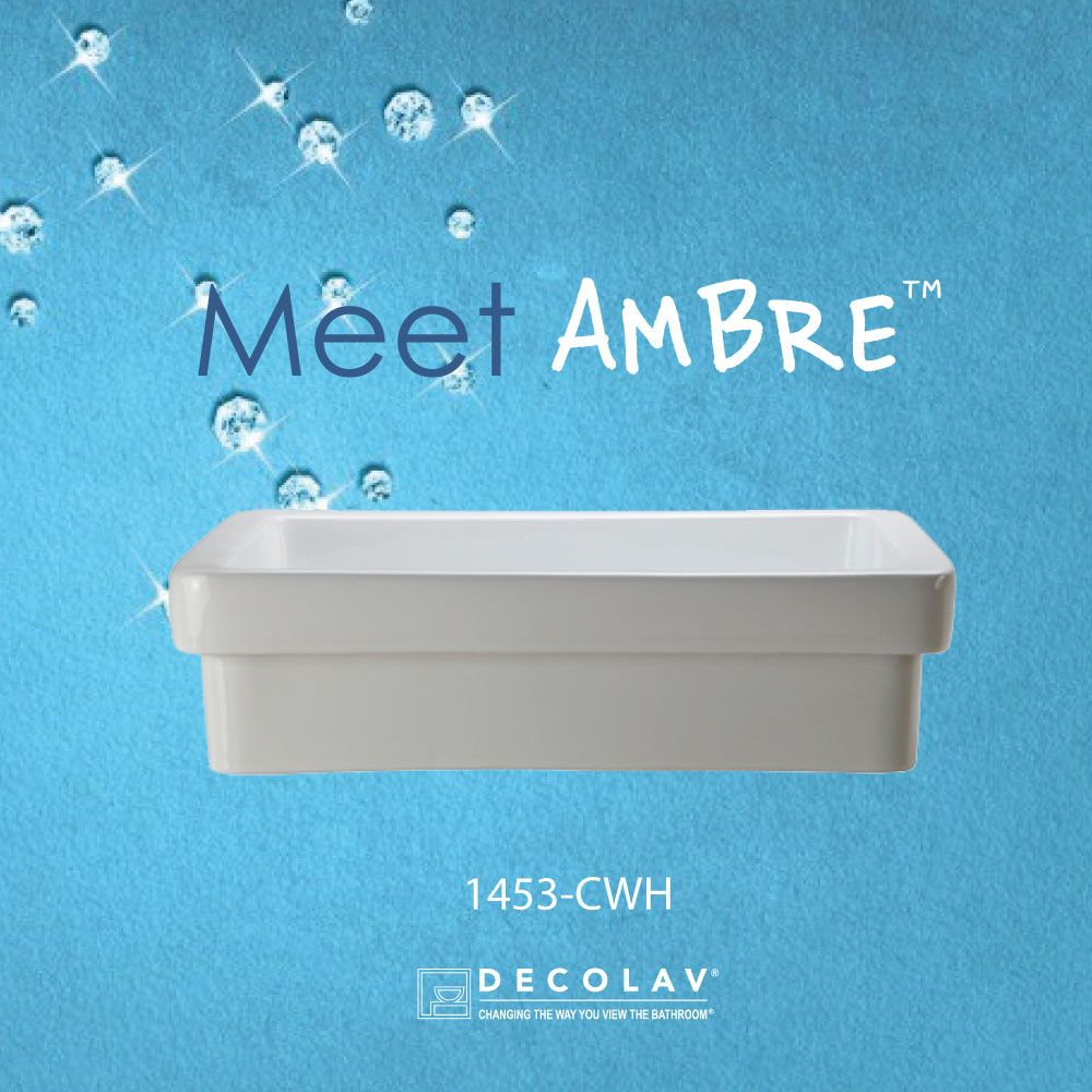 Meet Ambre! This semi-recessed rectangular vitreous china sink is a ...