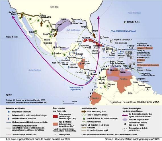 Les Enjeux Geopolitiques Dans Le Bassin Caraibe En 2012