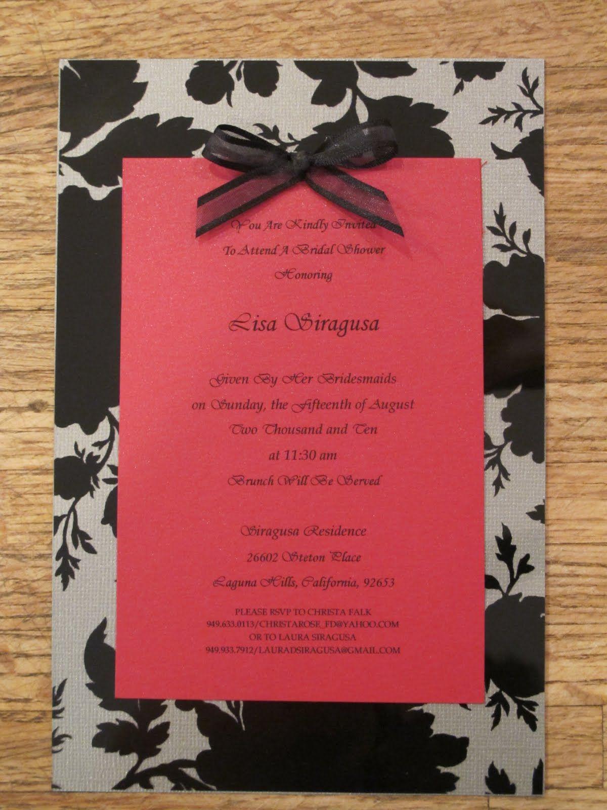 another invite | Wedding Shower | Pinterest | DIY wedding, Weddings ...