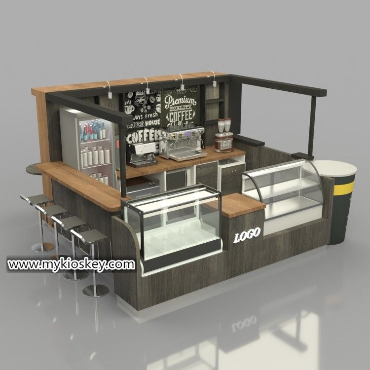 Luxury Coffee Kiosk With Bar Counter Design In Mall For Sale In 2020 Coffee Shops Interior Coffee Shop Design Rustic Coffee Shop