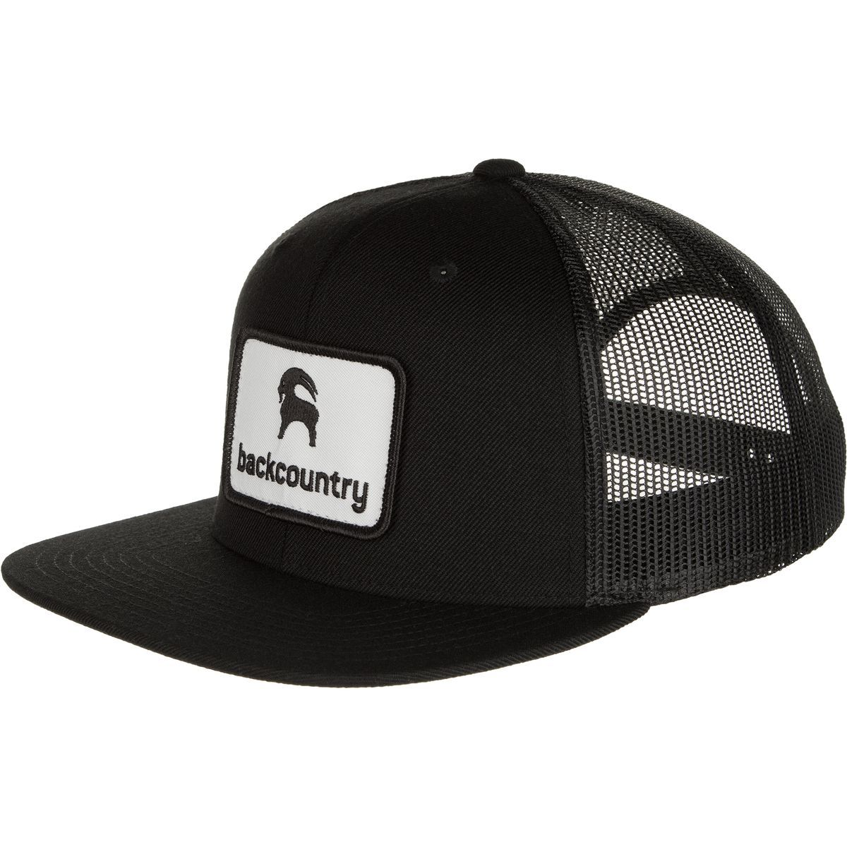 Backcountry Flat Brim Patch Trucker Hat Black Black One Size ... 72b8af5fd90c