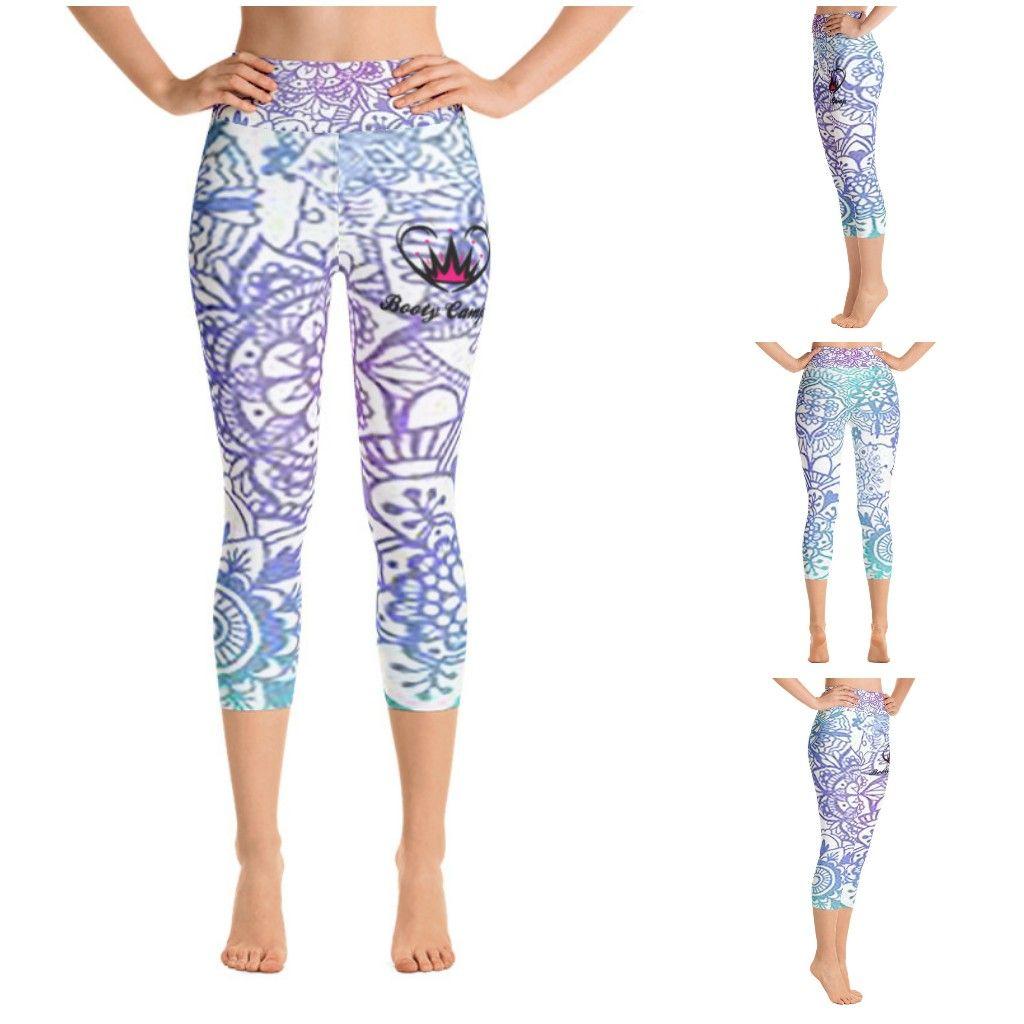 Pastel mandala yoga capri leggings  #empoweredfitnessapparel #empoweredfitness #delaware #leggings #capri #yoga #fitness #apparel #gym #clothing #women #pastel #mandala #pink #blue #purple