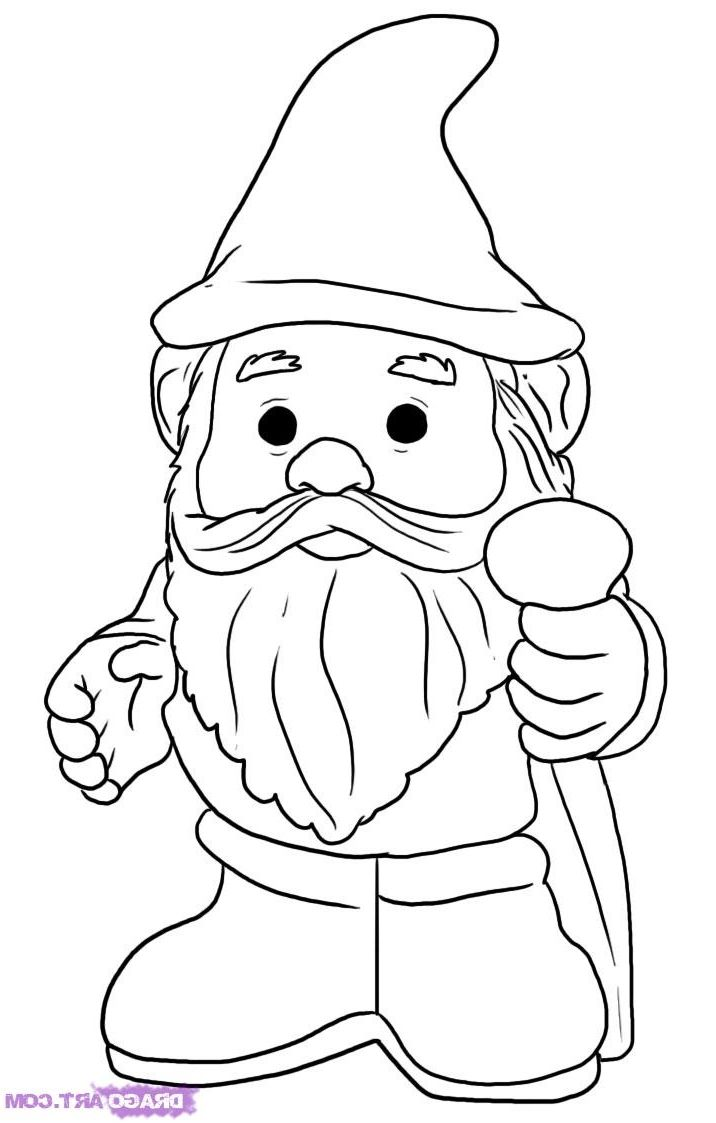 Gnomes colouring pages