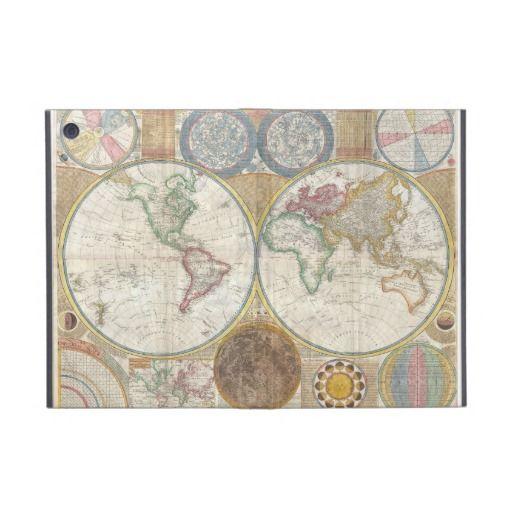 Vintage World Map iPad Mini Cover