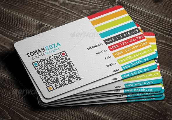 25 QR Code Business Card Templates