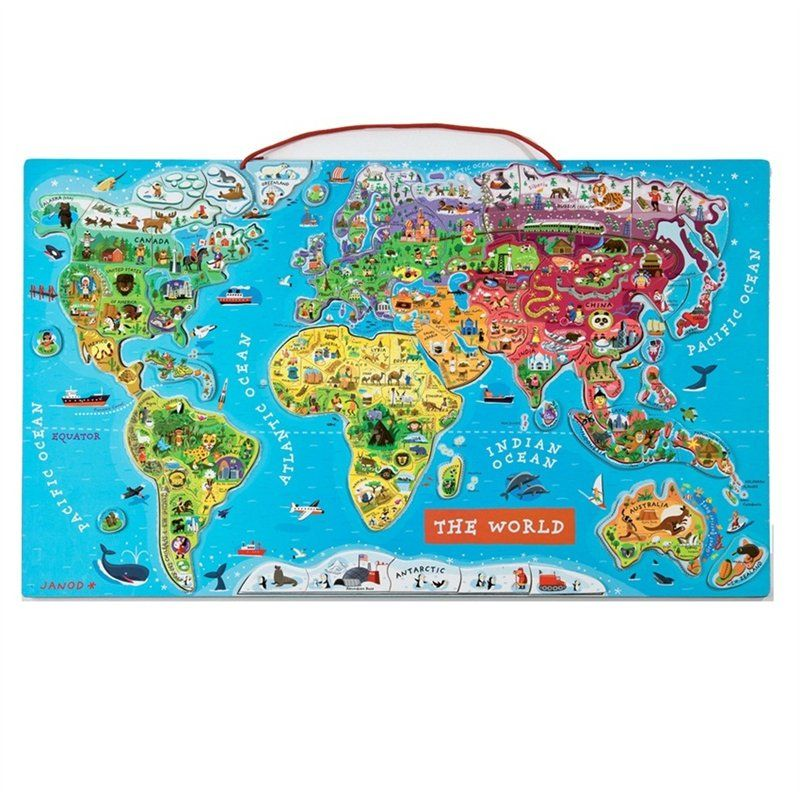 Magnetic world puzzle english english toy and child magnetic world puzzle english by janod toys chaptersdigo gumiabroncs Image collections