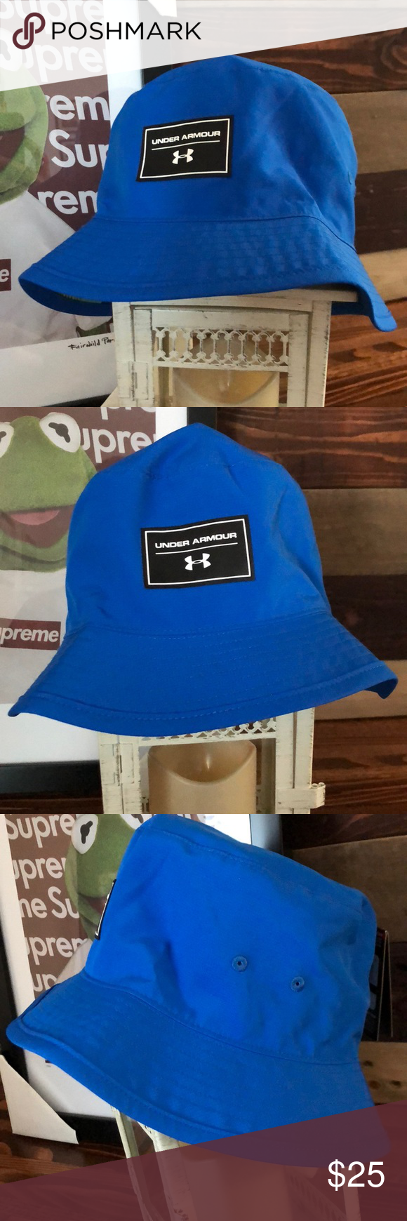 premium selection 7fd08 78ddc Under Armour Boys  Switchback Bucket Hat Traditional bucket fit for a  relaxed feel   an extended brim for increased coverage. UA Storm technology  repels ...