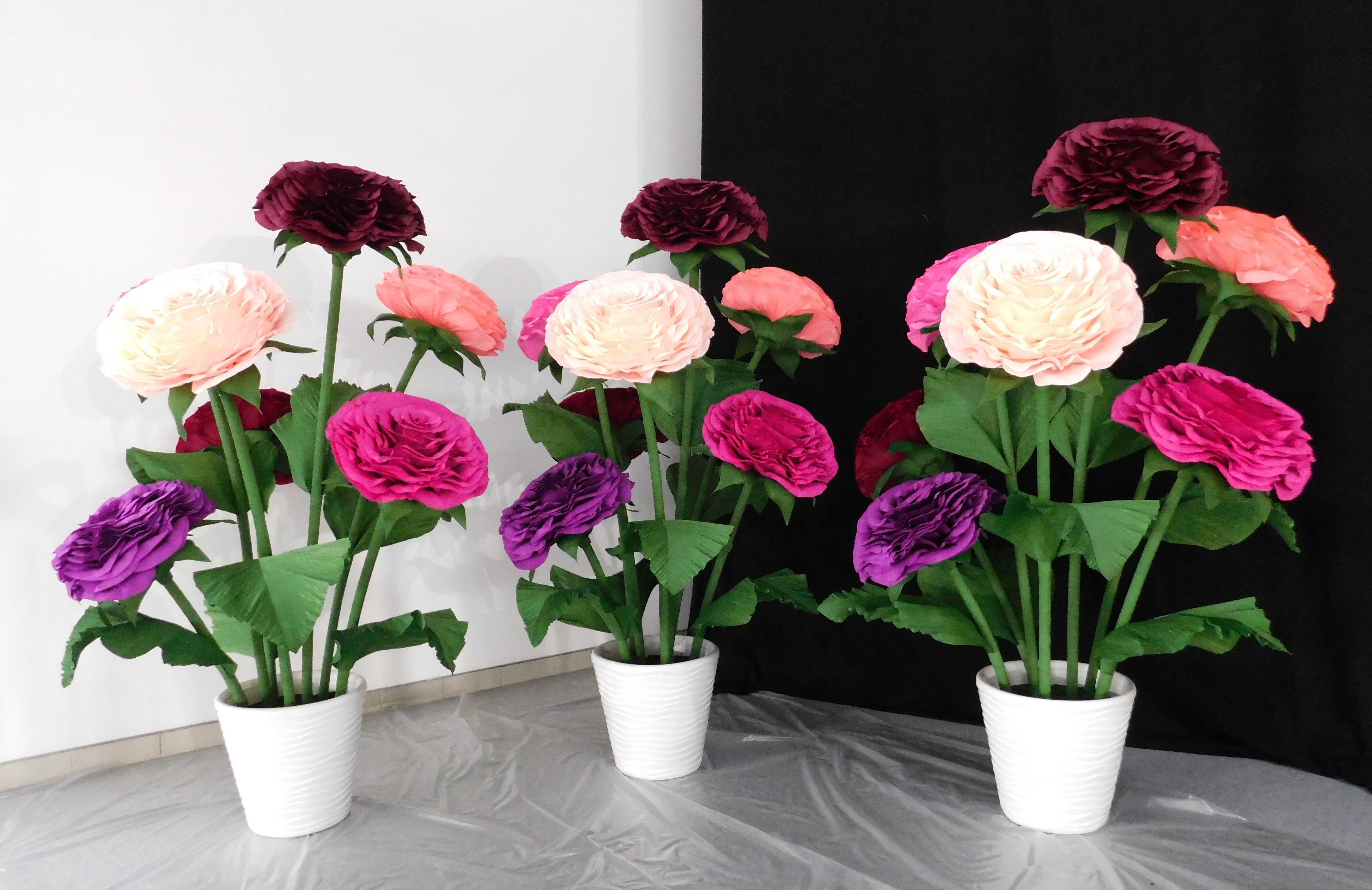 Giant Flowers Kwiaty Giganty Wielkie Kwiaty Crepe Flowers Giant Flowers Wedding Decorations Flowers