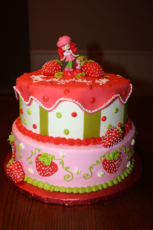 Incredible Strawberry Shortcake Birthday Cake Strawberry Shortcake Birthday Personalised Birthday Cards Veneteletsinfo