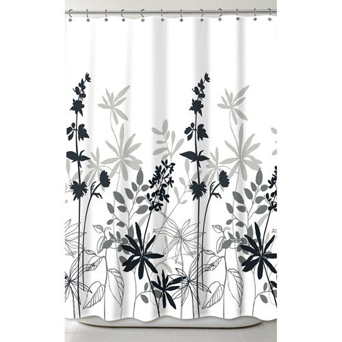 Better Homes And Gardens Tranquil Leaves Fabric Shower Curtain