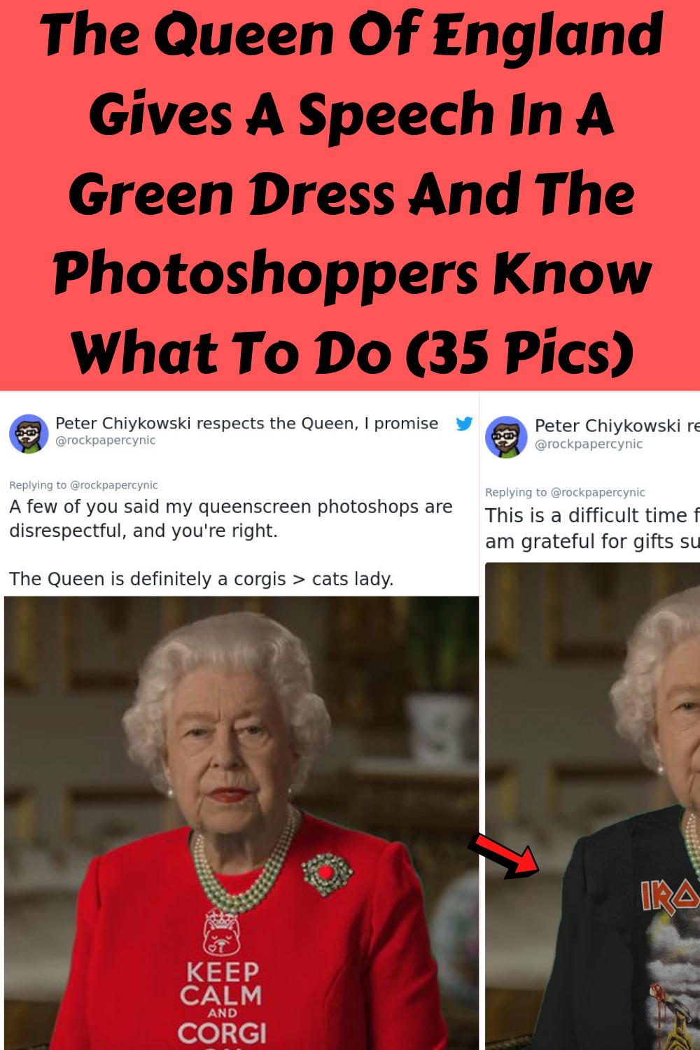 The Queen Of England Gives A Speech In A Green Dress And The Photoshoppers Know What To Do 35 Pics Queen Of England Green Dress Best Biographies [ 1500 x 1000 Pixel ]