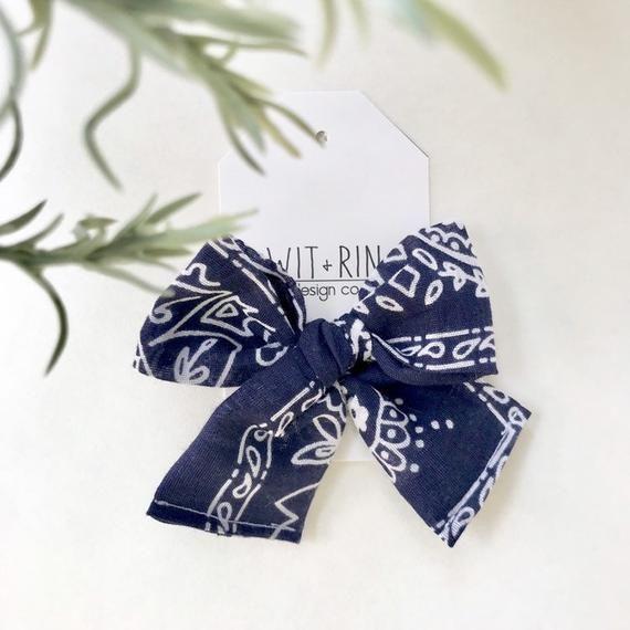 Bow Clip // Bandana Pinwheel