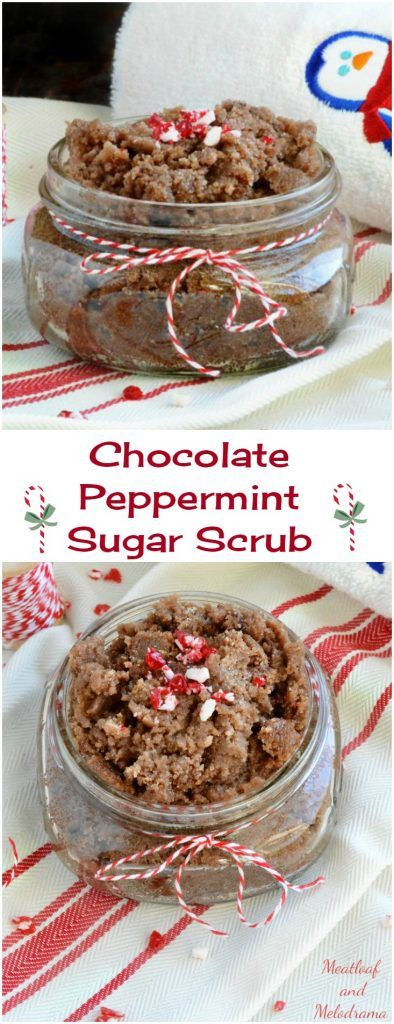 DIY Chocolate Peppermint Sugar Scrub is easy to make, inexpensive and perfect for Homemade Christmas Holiday gifts