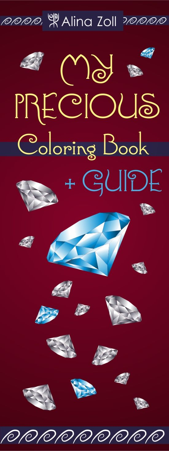 Coloring book with guide - Adult Coloring Book With Coloring Guide Diamond Drawing Tutorial How To Make Realistic Crystal Effect