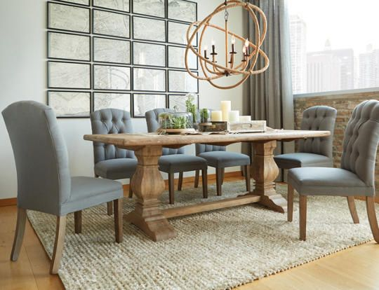 San Rafael Dining Table  Dining Room  Double pedestal