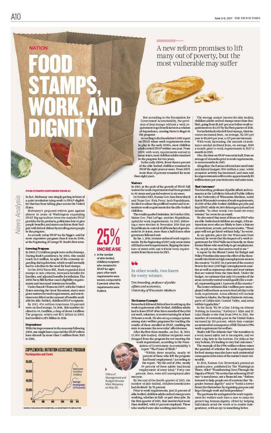 Food stamps work and dignitythe epoch times newspaper