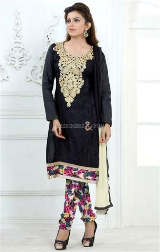 Beautiful punjabi suits new style of embroidered plain kameez and ...