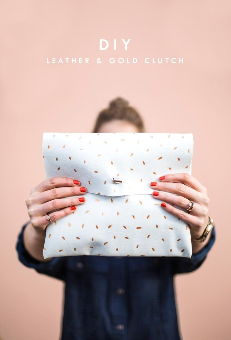 272b9f18559d1 Diy metallic dotted clutch easy fashion crafts diy bag clutch jpg 800x1173 Easy  fashion diy